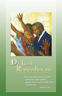 General Worship Bulletin - African American Heritage- Do, Lord, Remember me. - Bible Scripture - (Package of 100)