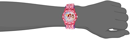 Disney Kids' W001667 Princess Analog Display Analog Quartz Pink Watch