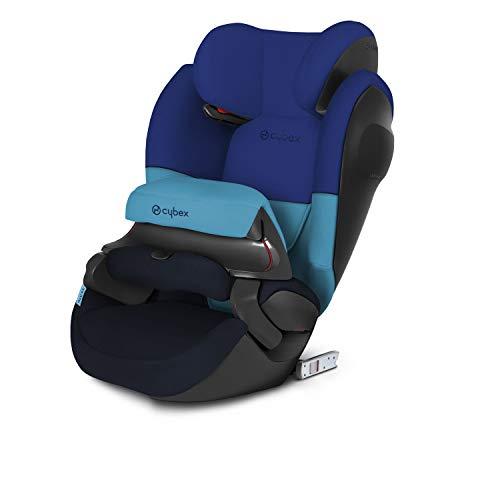 CYBEX Silver 2-in-1 Kinder-Autositz Pallas M-Fix SL, Für Autos mit und ohne ISOFIX, Gruppe 1/2/3 (9-36 kg), Ab ca. 9 Monate bis ca. 12 Jahre, Blue Moon