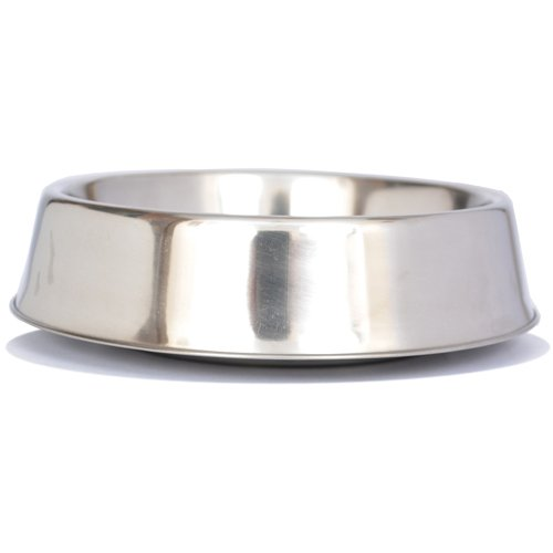 Iconic Pet 8 oz/ 1 Cup Anti Ant Stainless Steel Non Skid Pet Food/Water Bowl - Noise Free Ant Resistant Dog/Cat Feeding Bowl with Unique Design & Rubber Base Makes It an Elegant Ant Proof Dish