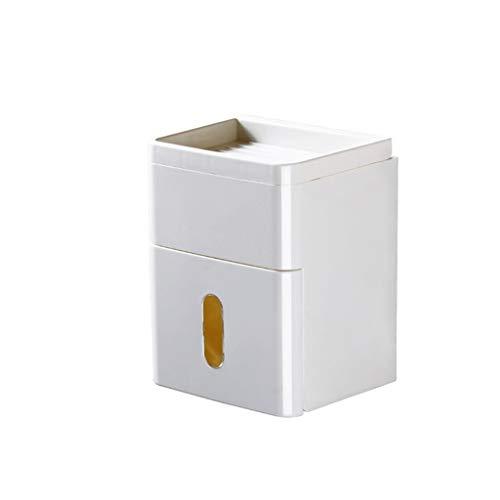 CML Bad Toilettenpapierhalter Tissue-Box platziert Telefon Einfach zu platzieren (Color : White)