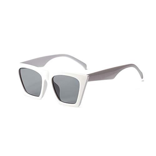 JUZEN Quadratische Sonnenbrille zeigte Flyer Rahmen Sonnenbrille Fahrer Fahren Gläser Outdoor Sports Anti-Sting-Brille Radfahren Anti-UV400 Sonnenbrille,White