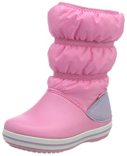 Crocs Crocband Winter Boot Kids, Botas para Nieve Unisex niños, Limonada Rosa Lavanda