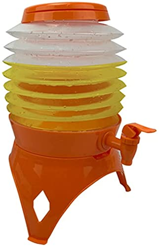 Dispensador de Bebidas Dispensador De Jugo Al Aire Libre Plegable Agua / Cerveza Contenedor De Bebidas Dispensador Telescópico Plegable Cubo 5.5L Portátil Plástico For Fiestas De Picnics Al Aire Libre