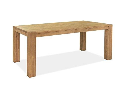 Naturholzmöbel Seidel Esstisch 160x90cm Rio Bonito Farbton Honig hell Pinie Massivholz geölt und gewachst Holz Tisch für Esszimmer Wohnzimmer Küche, Optional: passende Bänke und Ansteckplatten