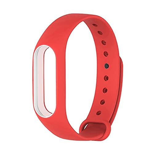 LXF JIAJU Correa De Silicona para Xiaomi MI Banda 2 Pulsera Inteligente MIBAND 2 Reloj Correa De Reloj De Reemplazo Colorido Fácil Y Fácil De Usar (Color : Red White)