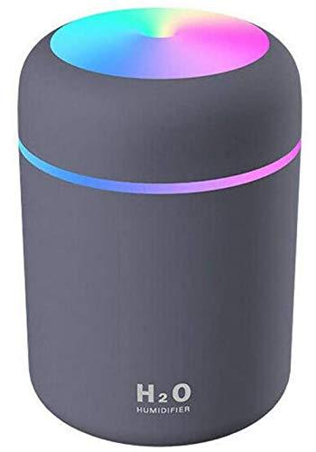 Difusores Aire Humidificadores Mini Ambientadores,Mini humidificador portátil Purificador Aire para automóvil,Apagado Automático fuente Alimentación USB,Humidificador Ultrasónico Silencioso (Negro)