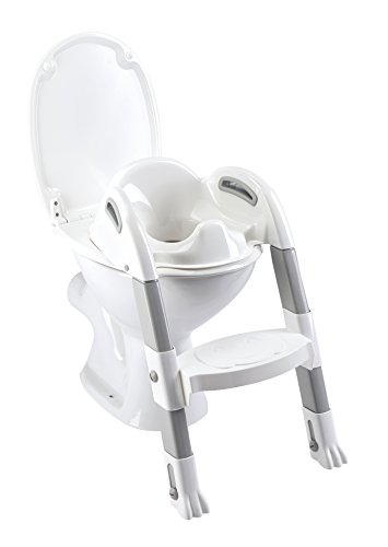 Thermobaby THE-003-SZ Kiddyloo Toiletten-Trainer, Weiß/Grau
