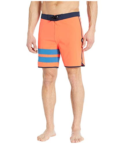 Hurley Herren Badehose M Phantom Block Party 18', Bright Crimson, 31, CJ5090