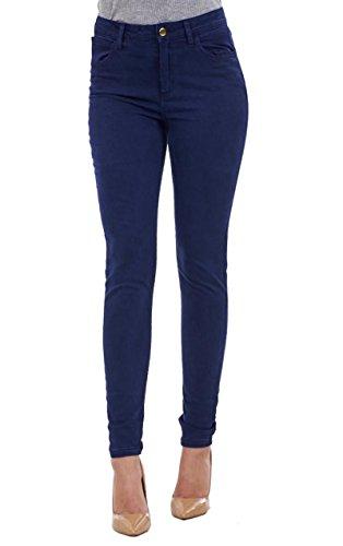 Ex High Street Ladies Slim Fit Skinny Jeggings da Donna Tratto Nero Indigo Denim Cotone