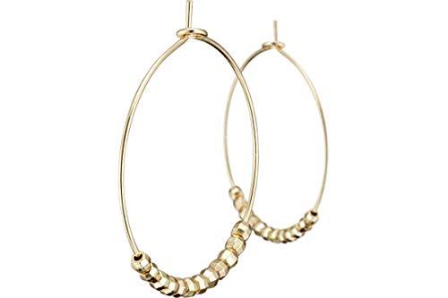 Bérénice Eterno Hoop Earrings Gold-Plated Diameter 30 mm
