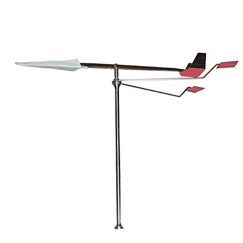 LZDseller01 Wetterfahne, einfache Installation, Edelstahl, Boot, Schiff, Wetterfahne, Windrichtungsanzeiger für Schiffe, Häuser, Gärten, nicht null, 38 x 20 x 6 cm., silver