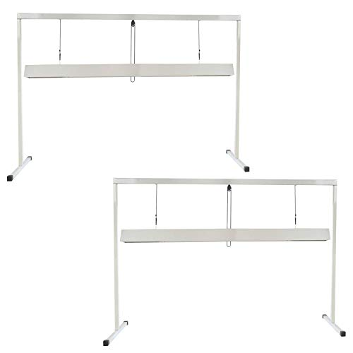 iPower GLT5XX4B2X2 2-Pack 54WX2 4 Feet 2-Bulb T5 Fluorescent Light Stand Rack for Seed Starting Plant Growing, 6400K, White