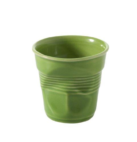 Revol RV640645 Tasse Espresso froissé, Porcelaine, Vert Lime, 6,5 x 6,5 x 6 cm