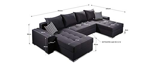 Ecksofa Couch –  günstig Collection AB Jockey  Stoff Bild 5*