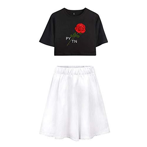 Trainingspak Crop Top T-shirt en Sportrok 2-delige set Gym Outfit-prints Payton Moormeier Sportwear Trainingspak Sweatsuit Voor hardlopen Jogging Yoga Casual A32065TXDQ