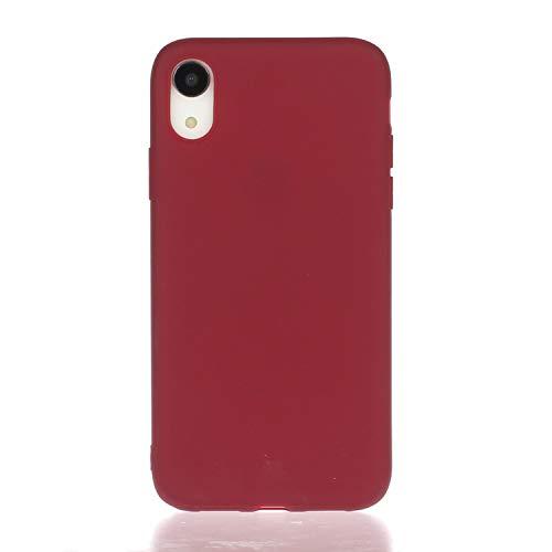 HopMore beschermhoes voor iPhone XR, silicone, zacht, 3 stuks, iPhone XR, Rode Wijn