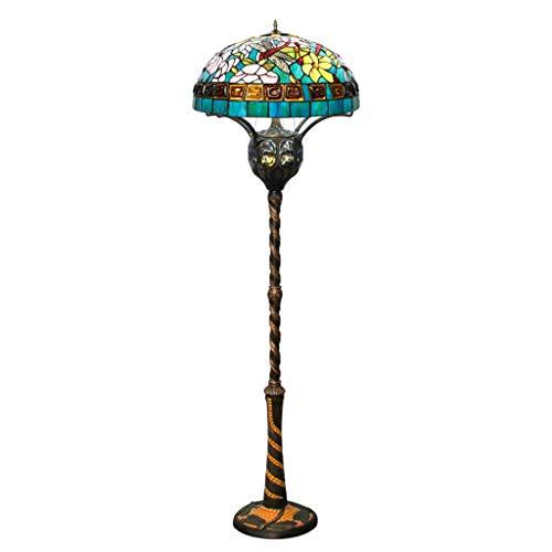 WLJBD Beautiful Lighting City/Tiffany European Retro Art Country Lámpara De Pie For Sofá Mesa De Centro Sala De Estar Estudio Dormitorio Mesita De Noche 22 Pulgadas