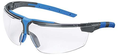 Gafas de Seguridad Uvex i-3 - Antivaho - Resistente a rayones y químicos - Gafas de Trabajo - Azul/Negro - Transparente
