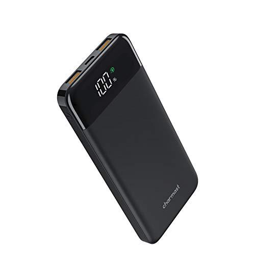 Charmast Power Bank 10400mAh, Caricatore Portatile Carica Rapida USB C 18W PD & USB A QC 3.0 Batteria Esterna Portatile con 3 uscite & 2 Ingressi per iPhone Samsung Giacca riscaldante