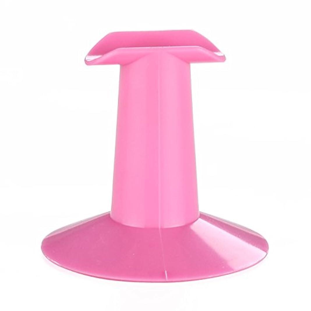 辛な元気なひばりSODIAL 5xハードプラスチック製ピンクのフィンガースタンドサポート レスト ネイルアートデザイン 絵画サロンDIY