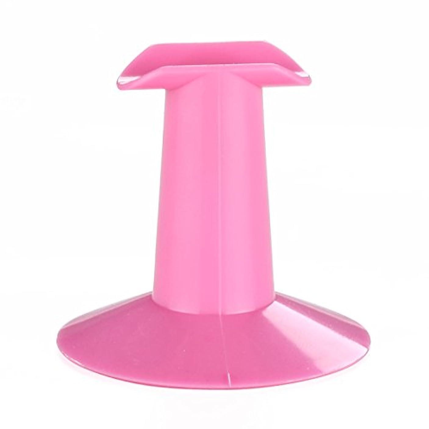 全体ジャンル品種SODIAL 5xハードプラスチック製ピンクのフィンガースタンドサポート レスト ネイルアートデザイン 絵画サロンDIY