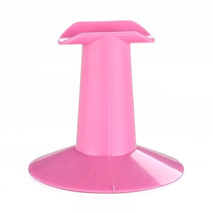 無条件焼く地下鉄Gaoominy 5xハードプラスチック製ピンクのフィンガースタンドサポート レスト ネイルアートデザイン 絵画サロンDIY