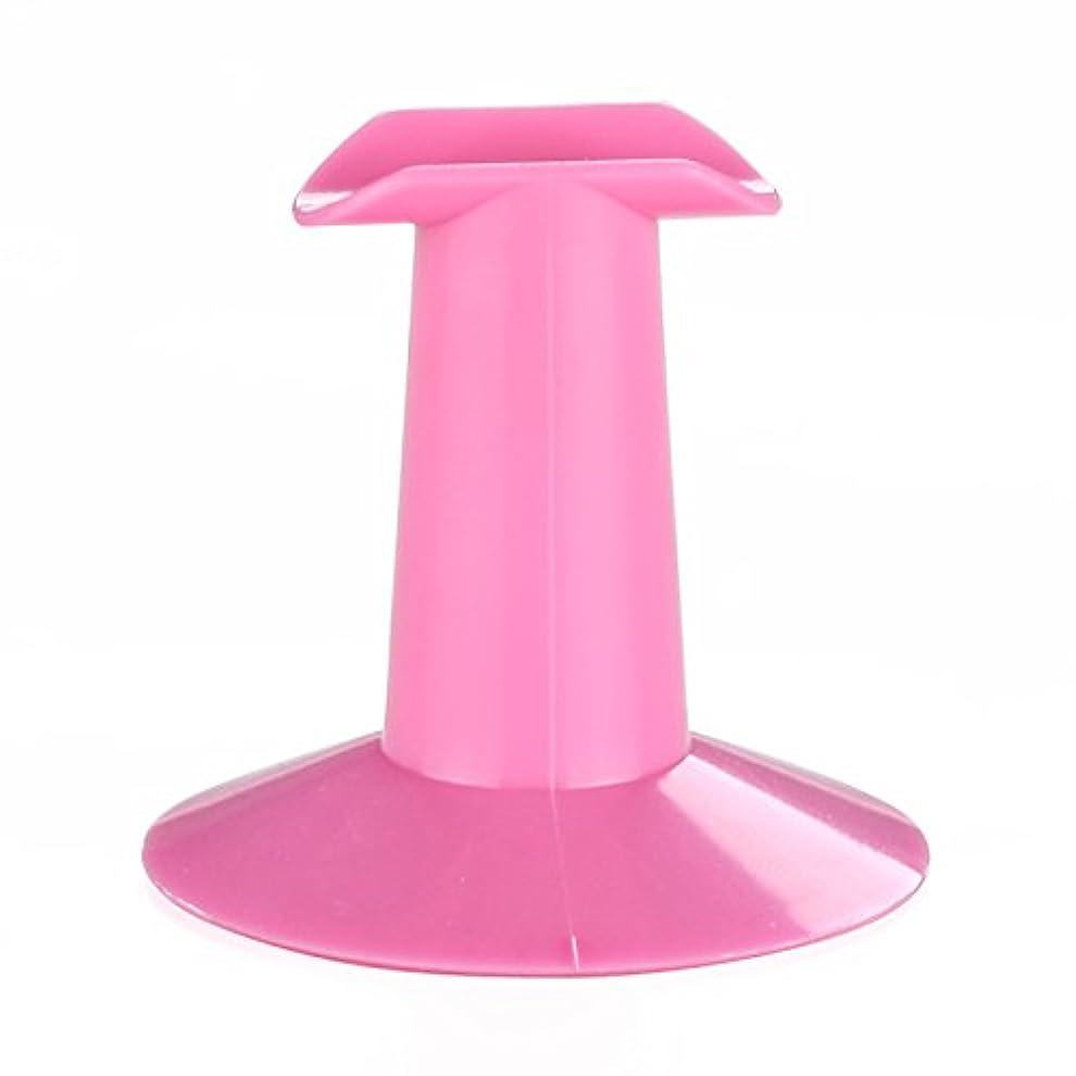 ロビーデザイナーしつけSODIAL 5xハードプラスチック製ピンクのフィンガースタンドサポート レスト ネイルアートデザイン 絵画サロンDIY