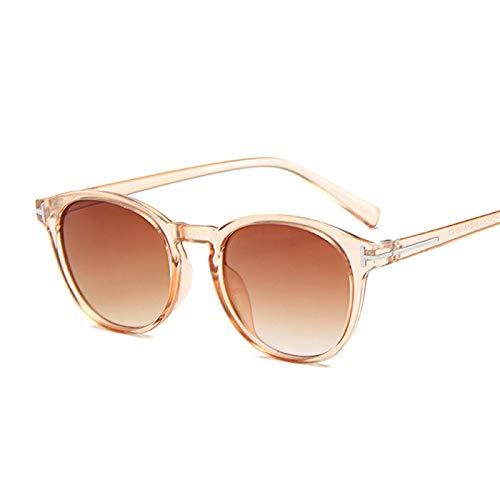 NJJX Gafas De Sol Vintage Con Forma De Ojo De Gato Para Mujer, Gafas De Sol Redondas Con Degradado, Para Hombre, Mujer, Retro, Marrón, Negro, Espejo, Champán