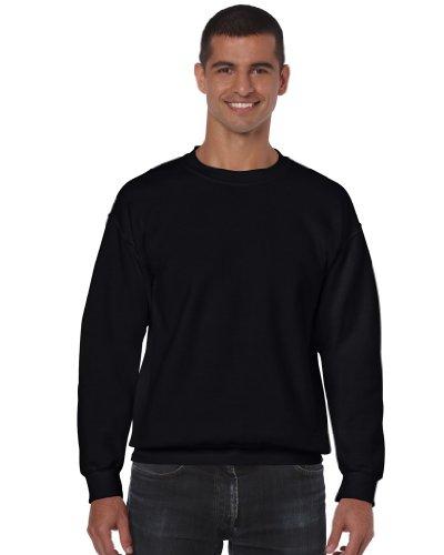 Gildan DryBlend Sweatshirt/Pullover mit Rundhalsausschnitt (M) (Schwarz)