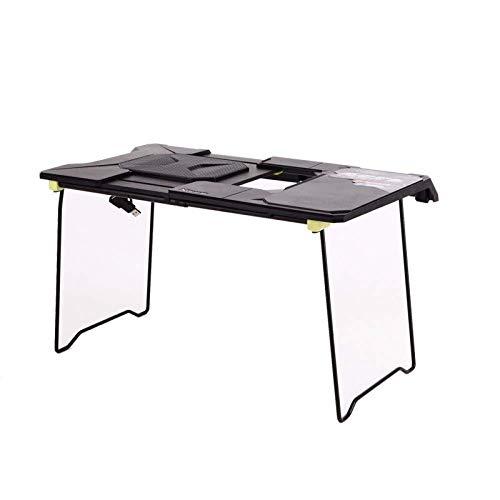 GWFVA Tragbarer Laptop-Laptop-Tisch, Rutschfester Hitzeschild-Tablet-Notebook-Computer-Stehtisch mit Stabiler, kühlerer Arbeitsfläche für Schlafsofa, Couch oder Reise