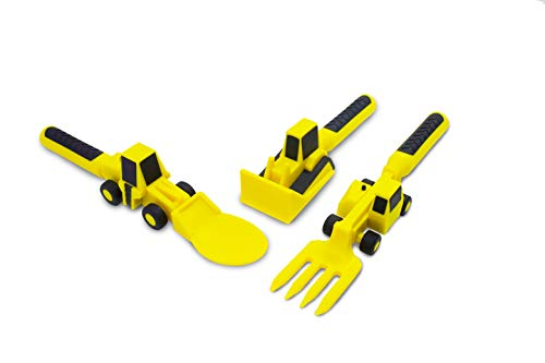 Constructive Eating Set of Construction Utensils for Toddlers