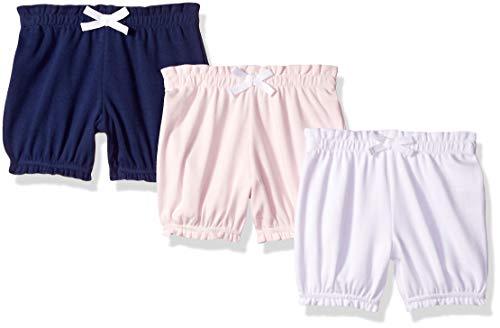 Amazon Essentials Baby Girls 3-Pack Bloomer, Pink/Grey Solid, Newborn