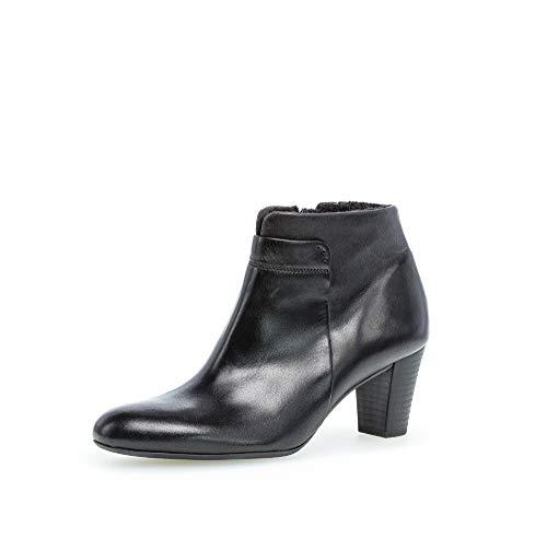 Gabor Damen Stiefeletten, Frauen Ankle Boots,Comfort-Mehrweite,Reißverschluss, leger Stiefel halbstiefel Bootie Lady,schwarz (Flausch),41 EU / 7.5 UK