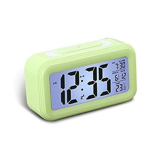 Kfhfhsdgsanz Despertador, Reloj de Alarma multifunción Espejo Digital Reloj de Alarma Luces de Noche Termómetro Termómetro Reloj de Pared Lámpara Cuadrado Rectángulo Rectángulo Relojes de Escritorio