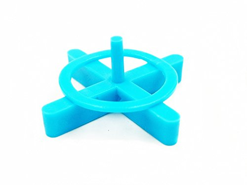 """Tipu 200-Pcs 1/8""""(3mm) Removable Tile Spacers, Reusable Cross Tile Spacer for Spacing of Floor or Wall Tiles, Blue"""