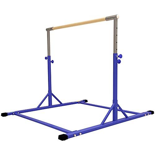 Z ATHLETIC Gymnastics Expandable Kip Bar (Blue)