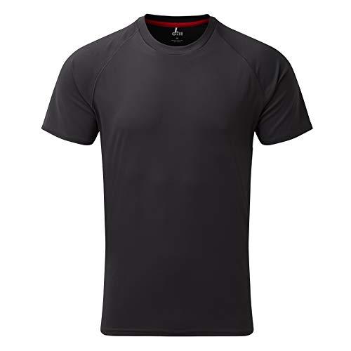 Gill Mens UV Tec Crew Neck T-Shirt 2019 - Charcoal XXL