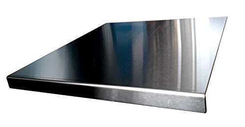 Protector salpicaduras, Fabricado en acero inoxidable, Tamaño L: 50 x