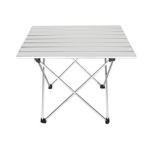 Outry Aluminum Folding Camping Table, Portable Collapsible Light Weight...