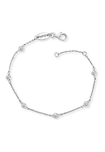 Engelsrufer Moonlight Armband für Damen 925er-Sterlingsilber Weiße Zirkonia Länge 16 cm + 2 cm