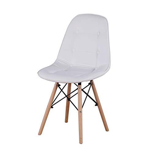 KUN_SK Juego de 4 sillas de comedor modernas y elegantes para comedor, cocina, sala de estar, color blanco