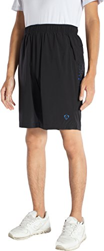 Jeansian Homme Outdoor Quick Dry Casual Men Shorts De Sport LSS139 Black L