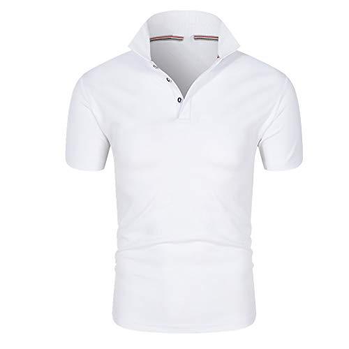 N\P Camisa de manga corta para hombre, suelta, primavera y verano, suelta, para primavera y verano. - blanco - X-Large