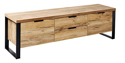 Amazon Marke -Movian Ems - Modernes TV-Board für Fernseher bis 60 Zoll, 152,4x39,5x45cm, Kerneiche-Effekt