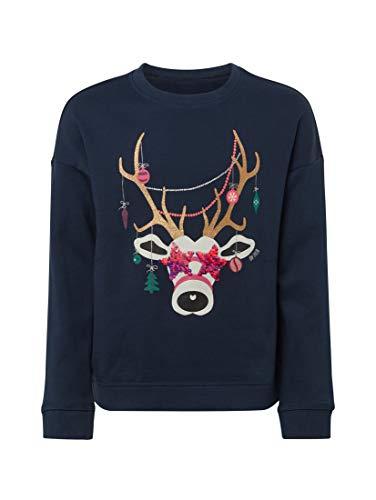 TOM TAILOR TOM TAILOR Mädchen Strick & Sweatshirts Sweatshirt mit Print Dress Blue|Blue,140