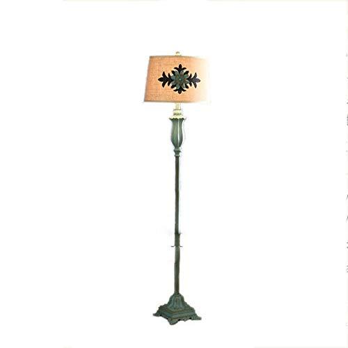 Hmvlw Retro lámpara de pie, Habitaciones Nordic Estar, Sala de Estar, Mesa de Centro, Europa mediterránea Creativa, Dormitorio, lámpara de cabecera, Resina Tela
