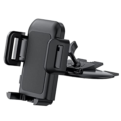 Car Phone Holder, CD Slot Car Mount 360° Rotating Car Phone Mount with One-Touch Release Button for iPhone 12/11/Pro/Max/XS Xr/ X/8, Galaxy Note10/S10/S20 Series, and More