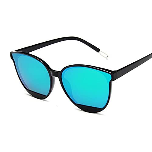 Único Gafas de Sol Sunglasses Gafas De Sol De Moda para Mujer Gafas De Sol con Espejo Vintage Uv400 C4Gree