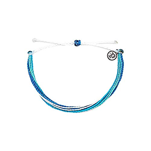 Pura Vida B.E.A.C.H. Charity Bracelet - Plated Charm, Adjustable Band - 100% Waterproof